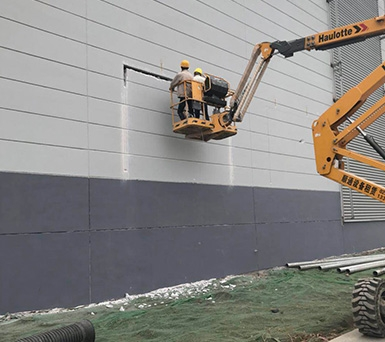 ALC板应用-超市外墙